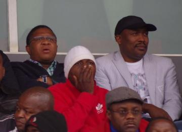 Times of swaziland mbalula l watches the semi finals of the castle premier challenge seated next to pls chairman victor gamedze yesterday at somhlolo national stadium stopboris Gallery